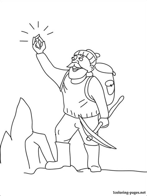 geologist coloring page coloring pages