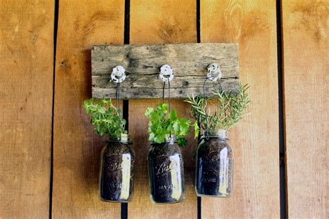 mason jar herb planter the country chic cottage
