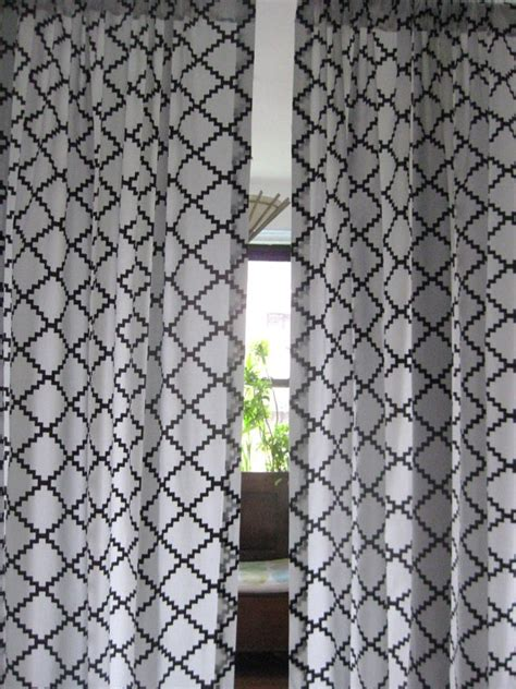 one pair 84 geometric square design curtain panels brown