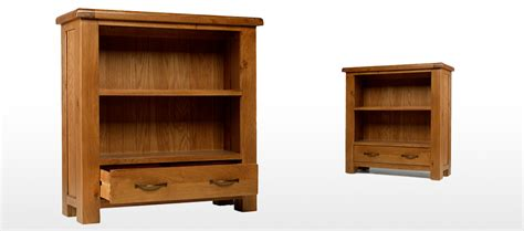 Oak Bookcases With Drawers by Barham Oak Low Bookcase With Drawer Quercus Living