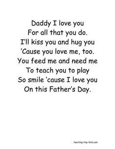 fathers day poems for children s day poems 235 | e9e8c831f4deea4a0fb63ad96b0adbfb fathers day poems daddys girl