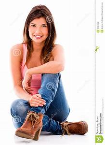 Woman Sitting On The Floor Stock Photo - Image: 31834530  Sitting