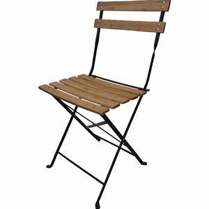 Chaise De Jardin Metal : 4 chaises pliantes bistro bois achat vente fauteuil ~ Dailycaller-alerts.com Idées de Décoration