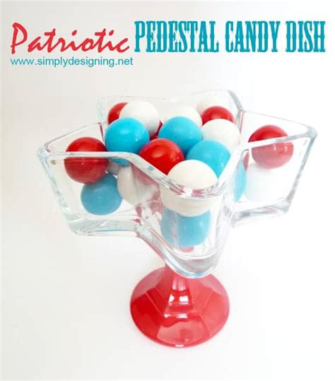 Patriotic Pedestal Candy Dish