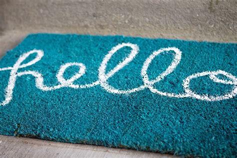 Teal Doormat by Diy Hello Doormat Zurcher Co He I Of 5