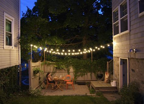 Backyard String Lighting Ideas by Outdoor String Lights Small Backyard Ideas 9 Ideas To