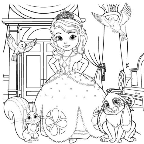 sofia the coloring page disney family