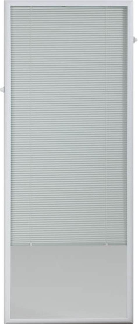 White Cordless Add On Enclosed Blinds For Door Windows