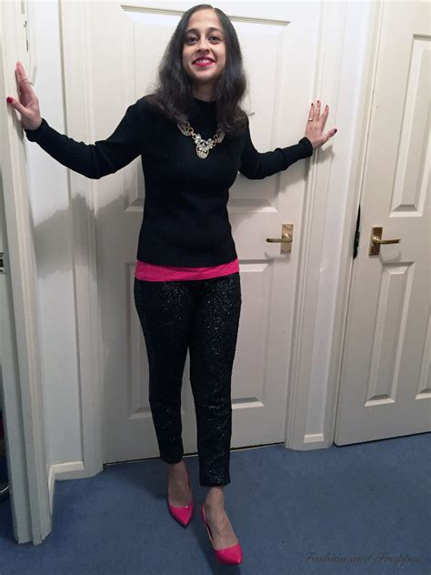 christmas party trousers pencil skirt silk blouse sequin trousers ootd fashion and frappes