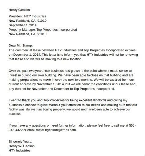 sample letter breaking  lease contoh