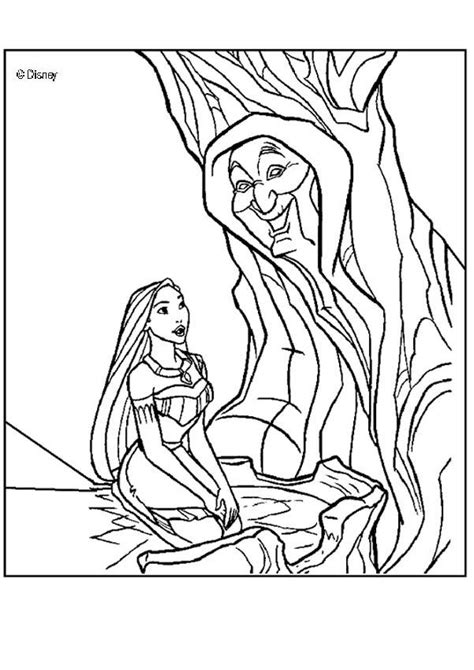 pocahontas  grandmother willow coloring pages hellokidscom