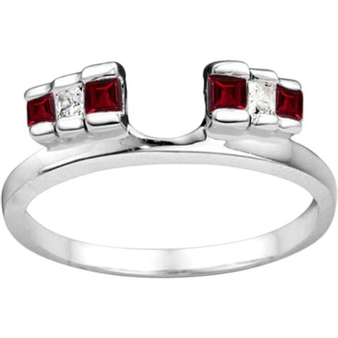 ruby wedding ring enhancers ruby wedding ring enhancer for and ruby rings in silver by twobirch jewelry i