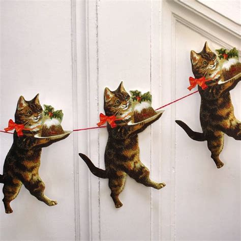 christmas cat garland pipii