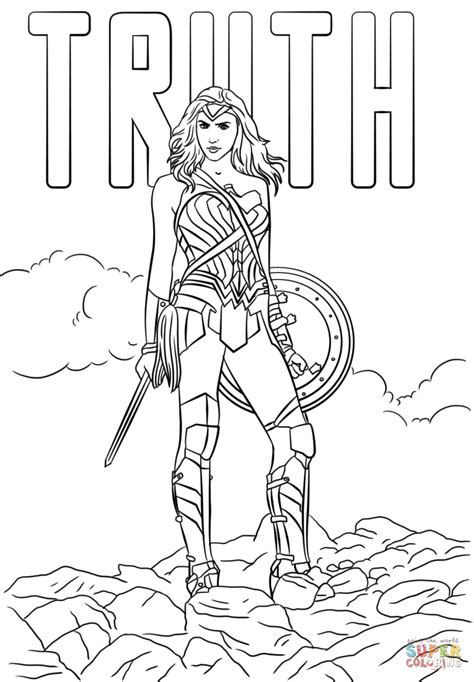woman truth coloring page  printable coloring