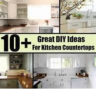 Diy Kitchen Countertop Ideas by 10 Great DIY Ideas For Kitchen Countertops Diycozyworld Home Improveme