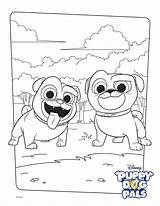 Coloring Bingo Rolly Disney Activity Pals Puppy Dog Characters Paw Pug sketch template