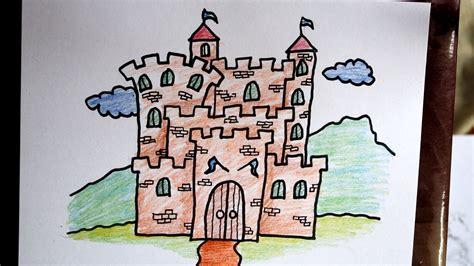 cara menggambar istana (kastil) YouTube