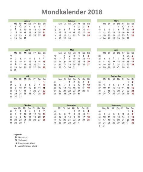 kalender mond kalender zum ausdrucken kalender