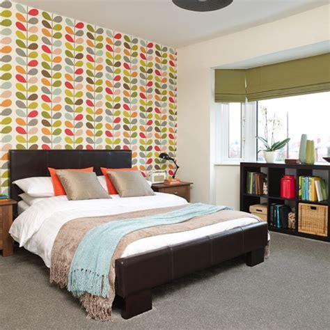 feature bedroom wallpaper bright bedroom ideas