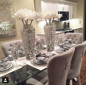 best 25 glass dining room table ideas on pinterest With kitchen colors with white cabinets with unique unity candle holders