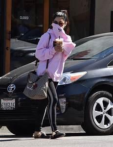 Vanessa Hudgens Street Style - Picks Up Her Morning Coffee ...