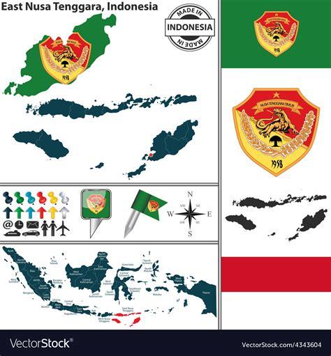 map  east nusa tenggara royalty  vector image