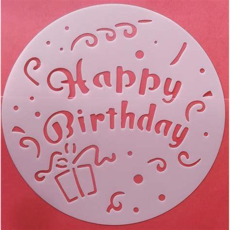 objet de decoration pour cuisine pochoir gâteau décoration patisserie joyeux anniversaire