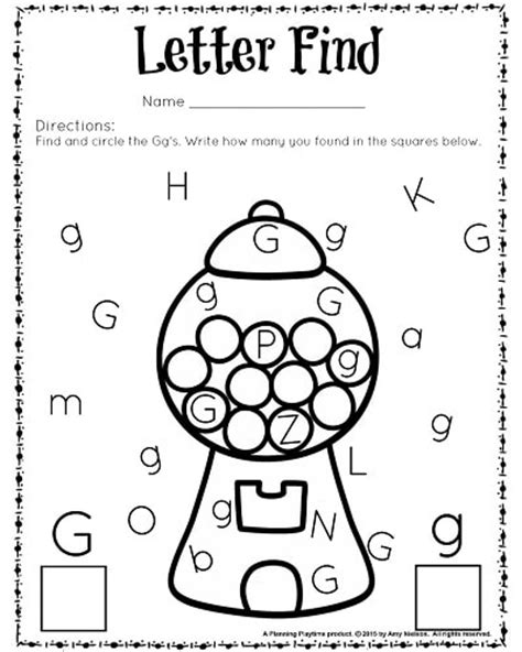 g worksheets for preschool letter find worksheets with a freebie planning playtime 887