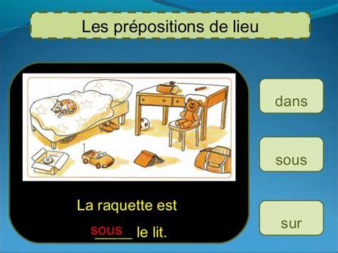 chaise de bureau ballon prepositions de lieu