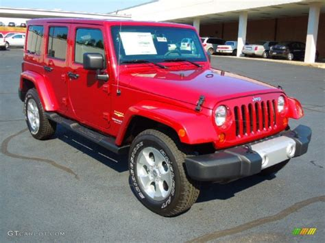 jeep sahara red 2013 deep cherry red crystal pearl jeep wrangler unlimited
