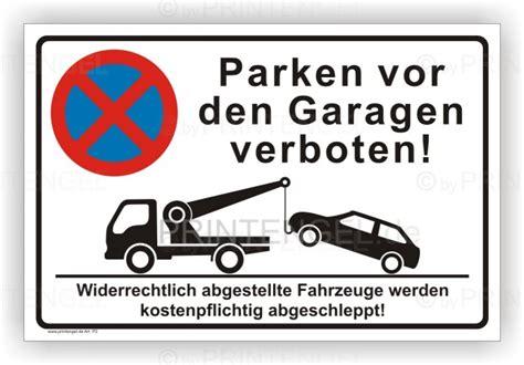 parken vor garage parkverbot parken vor den garagen verboten