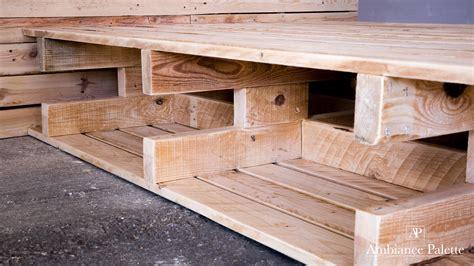 construction lit en bois de palette ambiance palette