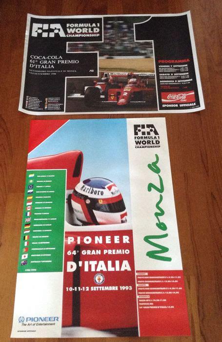 Voir plus d'idées sur le thème affiches publicitaires. Affiche - Ferrari - very interesting original Italian Grand Prix 1990 1993 Ferrari Mansell Alesi ...