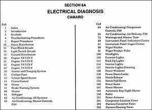1988 Chevy Camaro Electrical Diagnosis Manual Original