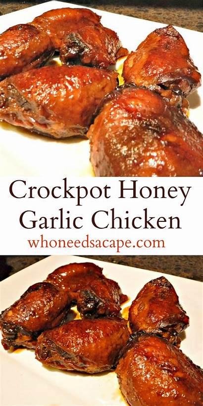 Chicken Honey Garlic Crockpot Slow Whoneedsacape Crock