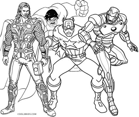 thor  hulk captain america  ironman coloring pages