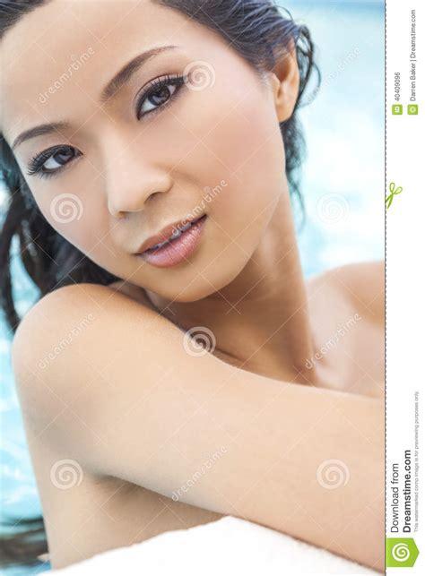 Nude Chinese Woman Girl In Swimming Pool Stock Photo Image