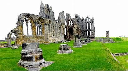 Ruinas Yorkshire Ruinen Whitby England Inglaterra North