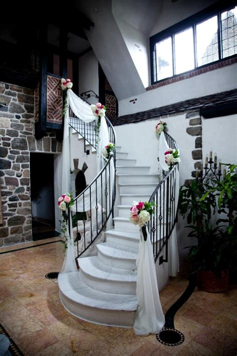 reception d 233 cor photos wedding staircase decorations