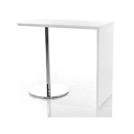 table bar haute cuisine pas cher table de bar tomy blanc laqué achat vente mange debout