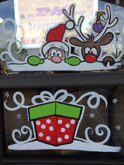 christmas window painting ideas 25 best ideas about christmas windows on pinterest christmas window decorations christmas