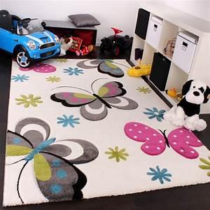 Teppich Kinderzimmer Grau : kinder teppich schmetterling design pink gr n blau grau creme kinderteppiche ~ Whattoseeinmadrid.com Haus und Dekorationen