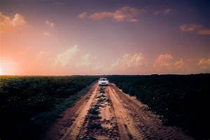 Free Images : car, clouds, countryside, crops, dusk