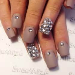 black diamond studs 17 cool rhinestone nail designs for inspiration sheideas