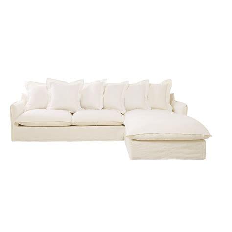 canape 7 places canapé d 39 angle 7 places en lavé blanc barcelone