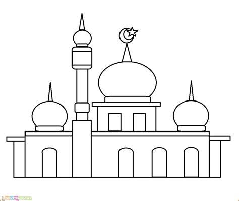 terbaru 24 gambar masjid kartun warna
