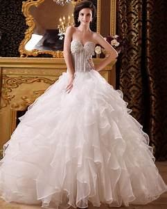 beaded ball gown organza wedding dress with floor With organza ball gown wedding dress