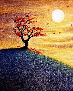 Little Autumn Tree Drawing by Danielle R T Haney