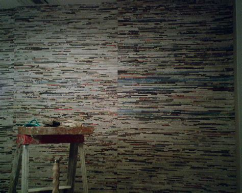 yesterdays news  cool wallcovering design