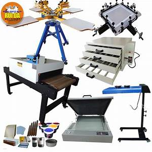 Factory Sales Cheap Price 4 Color 4 Station Manual